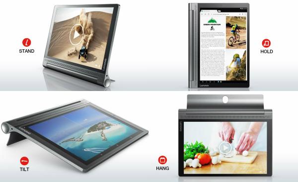 Yoga Tablet 3 Plus Arbeitsmodi