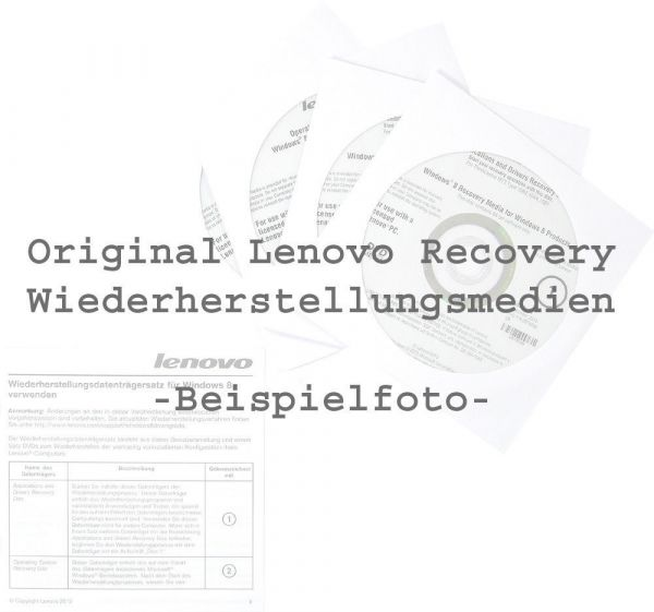 Lenovo Recovery DVD Set Windows 8 Pro / Deutsch für ThinkPad S431 S531 S3-431