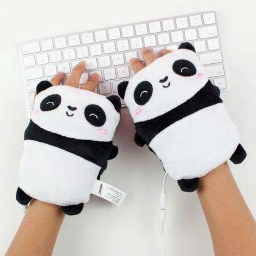 Beheizbare Panda-Handwärmer