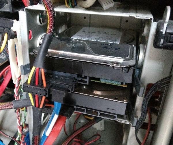 HDDs im Tower PC Gehäuse