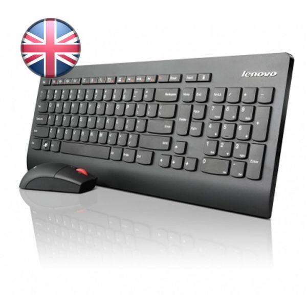 Lenovo Slim USB Tastatur und Maus Set UK (54Y9618)