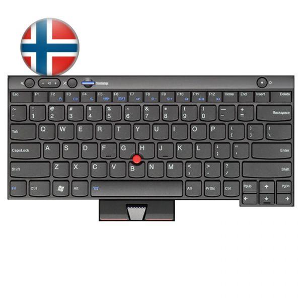 Lenovo Notebook Tastatur für ThinkPad L/T/X und W Serien 04W3045 Norwegisches Layout