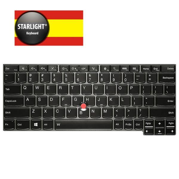 Lenovo Tastatur X240 X250 X260 Spanisch (Starlight)