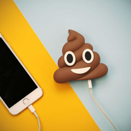 Emoji-Poop Ladegerät