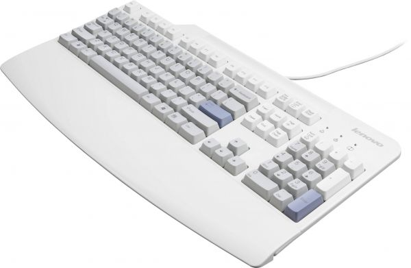 Lenovo USB Tastatur Deutsch weiß 43R2258