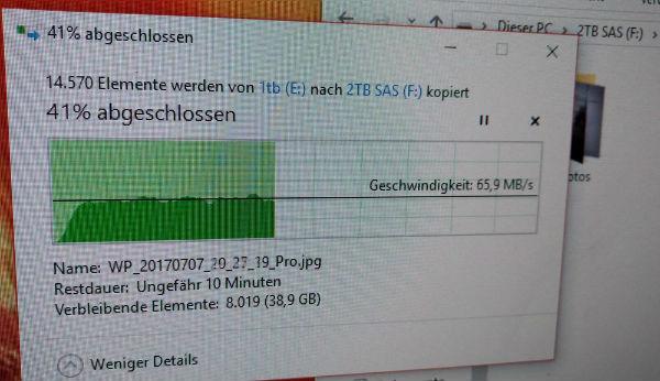 Datenübertragung bei Windows
