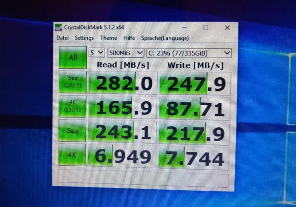 Benchmark Ergebnisse der neuen SSD